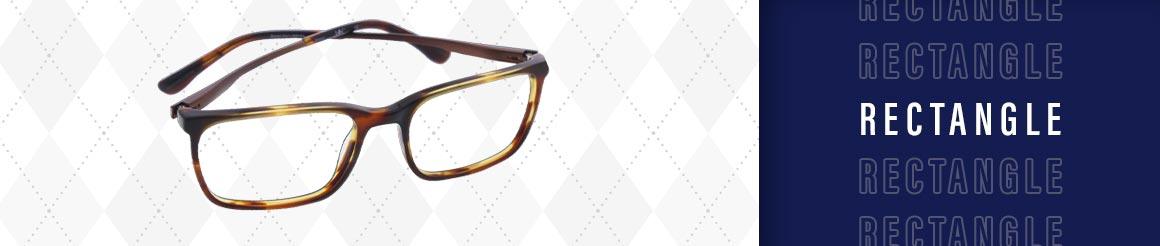 rectangle shaped eye glasses and sunglasses