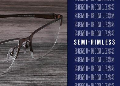 semi rimless eye glasses and sunglasses