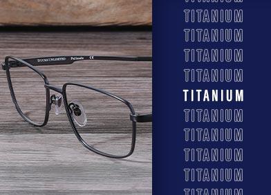 titanium eye glasses and sunglasses