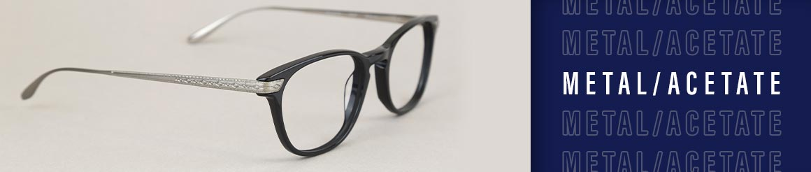 metal and acetate eye glasses and sunglasses