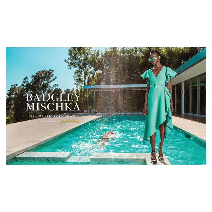 badgley mischka for mcgee group in invision magazine june 2020