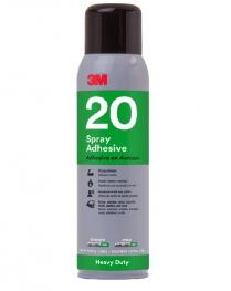 3M™ Heavy Duty 20 Spray Adhesive Clear, 13.8 oz.