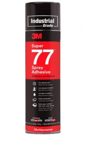 3M™ SUPER 77 Spray Adhesive (Aerosol), 24 fl. oz.