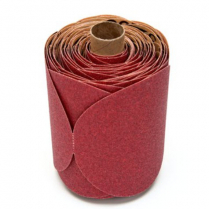 """3M™ Red Abrasive Disc, P120A, 5"""", 100 discs/roll"""