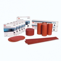 "3M™ Red Abrasive Disc, P80D, 5"", 100 discs/roll"