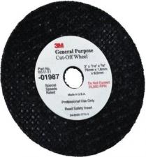 "3M™ General Purpose Cut-Off Wheel,01987, 3""x1/32""x3/8"",50/cs"