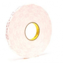 "3M™ 4950 VHB™ Acrylic Foam Tape, 45 mil, White, 1"" x 36 yds"