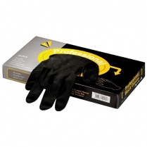 Professional Black Gloves - Latex - Box of 20pc - Small