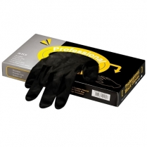 Professional Black Gloves - Latex - Box of 20pc - Large