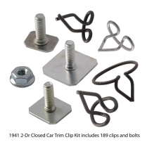 Body Trim Clip Kit - 2 Door Closed Car