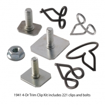 Body Trim Clip Kit - 4 Door Car