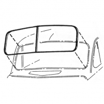Windshield Seal - No Groove for Chrome - Closed Car