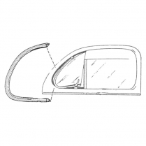 Vent Window Rubber Seals - Pre-Molded - Closed Car - 1941-48 Ford Car