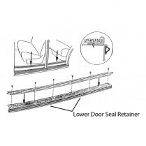 Door Seal Retainer - 4 Door Rear