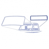 Back Glass Seal - Pickup - with Groove for Chrome