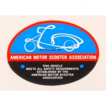 American Motor Scooter Association Decal - Adhesive Sticker - 1960-65 Cushman Scooter