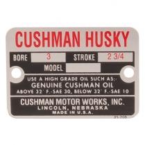 "Engine nameplate - 3"" Bore - 1956-58 Cushman Scooter"