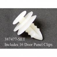 387477-SET DOOR PANEL CLIPS-PLASTIC-SET O