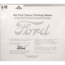 Painting Mask For Ford On Hood And Fenders - 1948-52 Ford Tractor