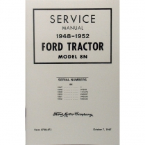 8N Shop Manual - 1948-52 Ford Tractor