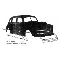 Running Board Molding - 1947-48 Ford Car