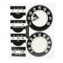 Instrument Panel Face Decal Set