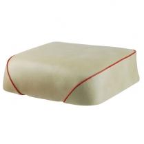 Solo Seat - 50/60 Series - Beige w/ Red Trim