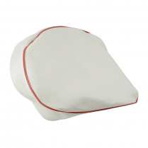 Drawstring Seat Cover - Oyster white w/ Red Trim - 1946-65 Cushman Scooter