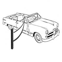 Back Edge of Vent Window Seals - Victoria & Convertible - 1949-51 Ford Car