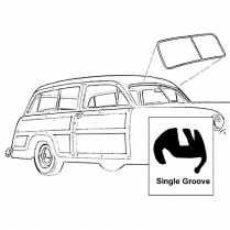 Windshield Seal - Single Groove for Chrome - Station Wagon