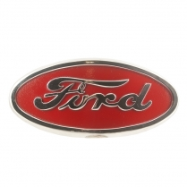 Hood Emblem - Red with Chrome Trim