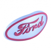 Hood Emblem - Silver And Red - 1948-52 Ford Tractor