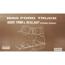 Body & Interior Trim Assembly Manual - 1960 Ford Truck