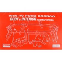 Body & Interior Trim Assembly Manual - 1966-70 Ford Bronco