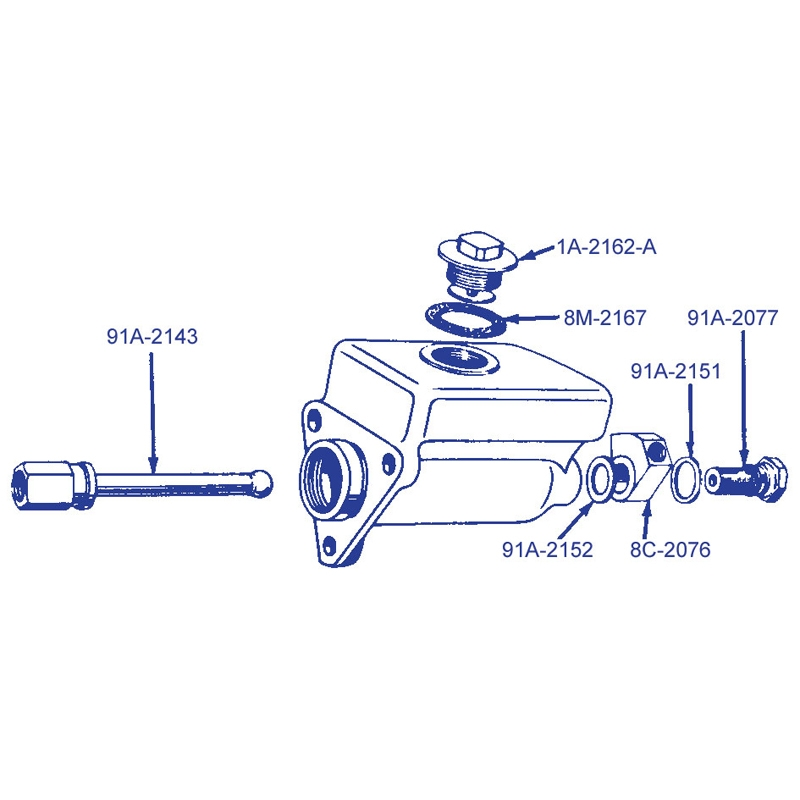 Master Cylinder Assembly - 1953-56 Ford Truck