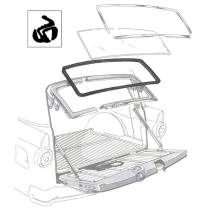 Back Glass Seal - with Groove for Chrome - Ranch Wagon & Sedan Delivery