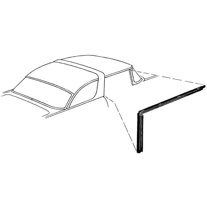 roof side rail w  strip 55 shop ford restoration parts for your vintage ford car truck  tractor