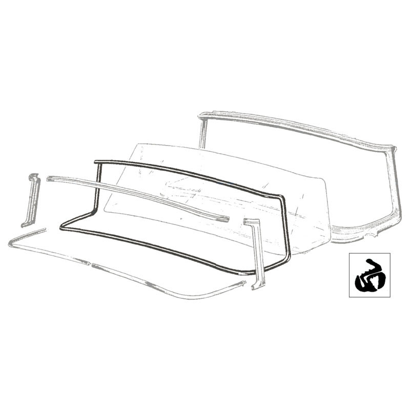 windshield seal shop ford restoration parts for your vintage ford car  truck  tractor or cushman