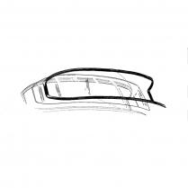Back Glass Seal - No Goove for Chrome - Mainline Sedans
