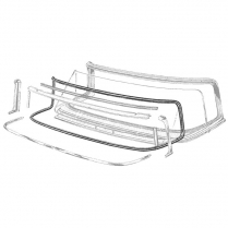 Windshield Seal - with Groove for Chrome - Convertible