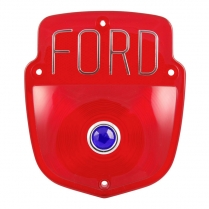 Taillight Lens - Ford - Block Letters - w/Blue Dot