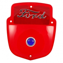 Taillight Lens - Ford Script - w/Blue Dot - 1955-56 Ford Truck
