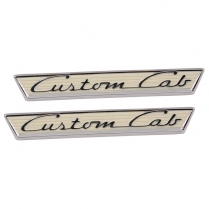 Door Emblem - Custom Cab - 1955-56 Ford Truck
