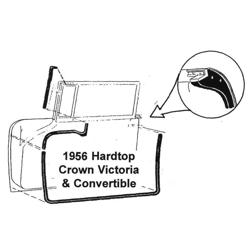 56 crown victoria dr seal kit shop ford restoration parts