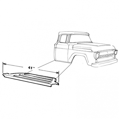 Running Board Step Plate Rh Shop Ford Restoration Parts For Your