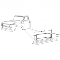 Running Board Step Plate Riser - 1957-60 Ford Truck