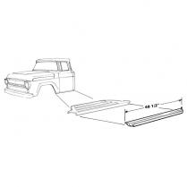Rocker Panel - 1957-60 Ford Truck