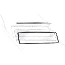 Back Glass Seal - Galaxie - Town & Club Sedans & Victoria