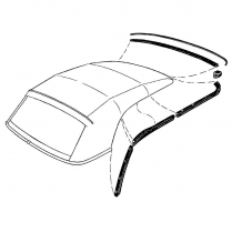 Weather Stripping Kit - Convertible Top - 1952-54 Ford Car