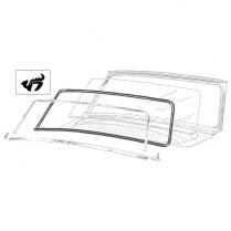 Windshield Seal - with Groove for Chrome - Customline 2 & 4 DR Sedan, Wagon